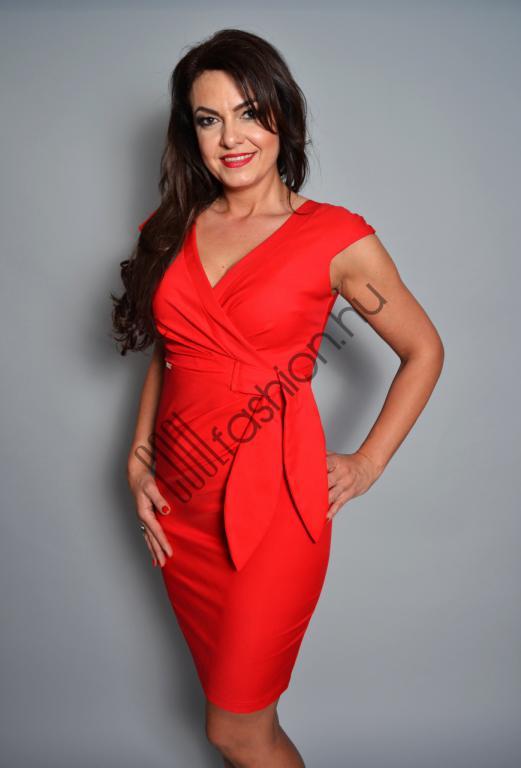8b475275f7 Betty vászon piros ruha - Cool Fashion