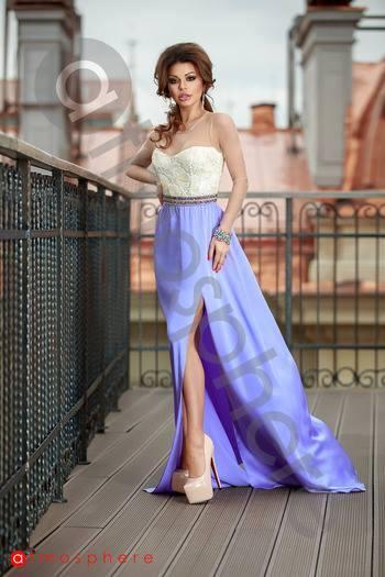 Lila selyem necc maxi ruha - Cool Fashion