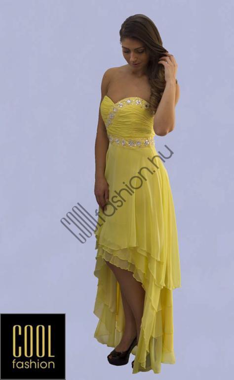 Sárga uszályos ruha - Cool Fashion 72a2bd1e41