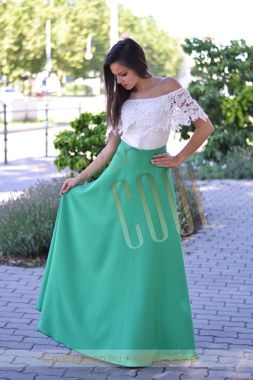 Vászon maxi szoknya - Cool Fashion ce74de8ab7