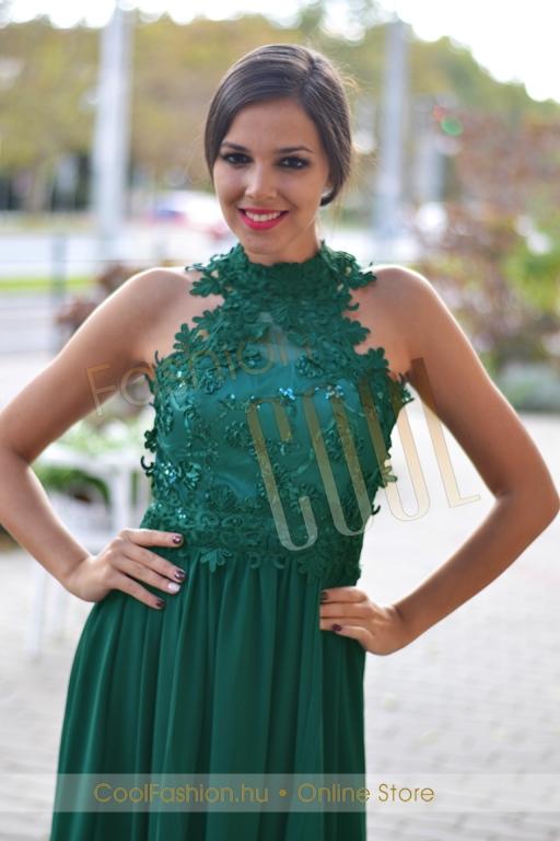 Egyedi horgolt csipkés muszlin maxi ruha - Cool Fashion ce5a47aa71