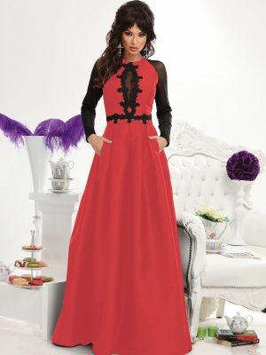taft maxi ruha necc fekete piros