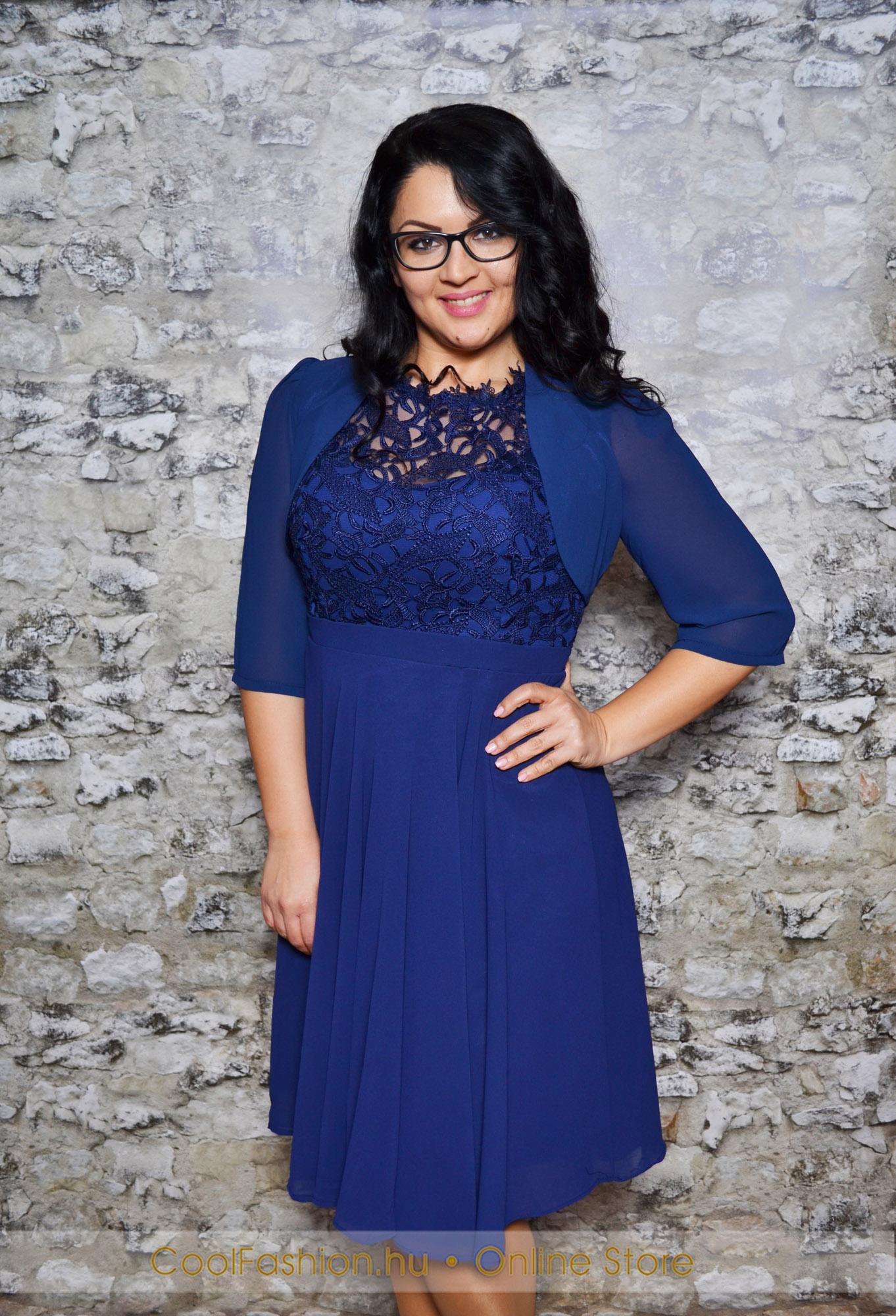6531df88c5 Nagyméretű felül csipkés muszlin ruha - Cool Fashion