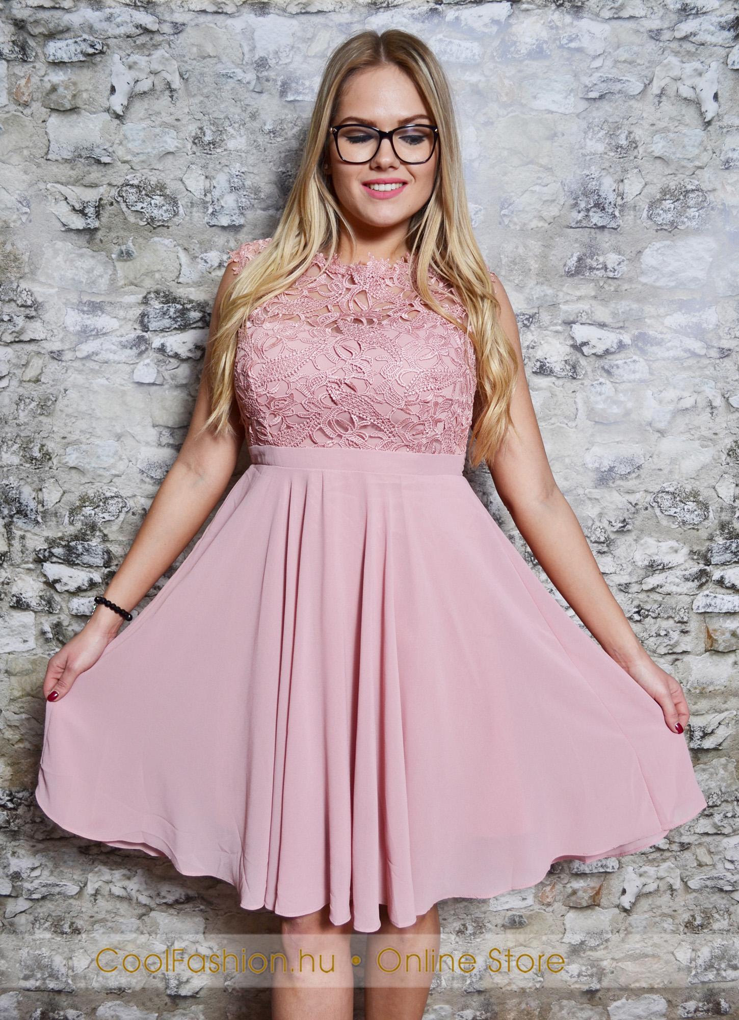 a92dc1169e Nagyméretű felül csipkés muszlin ruha - Cool Fashion