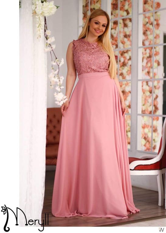 8947d0d958 Nagyméretű felül csipkés muszlin maxi ruha - Cool Fashion