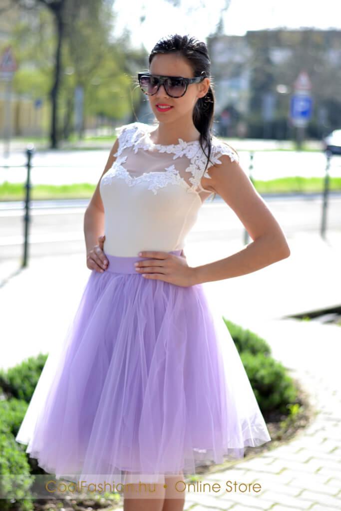 Midi tüll szoknya - Cool Fashion 400b20745b