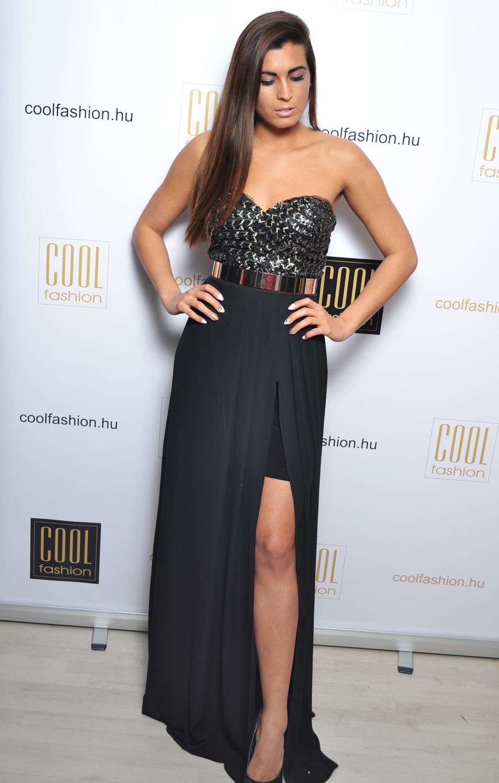 a258db6dfe Flitteres fekete arany öves ruha - Cool Fashion