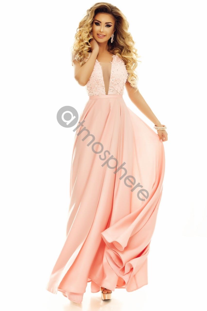 8ab9232481 Púder szatén görög maxi ruha - Cool Fashion