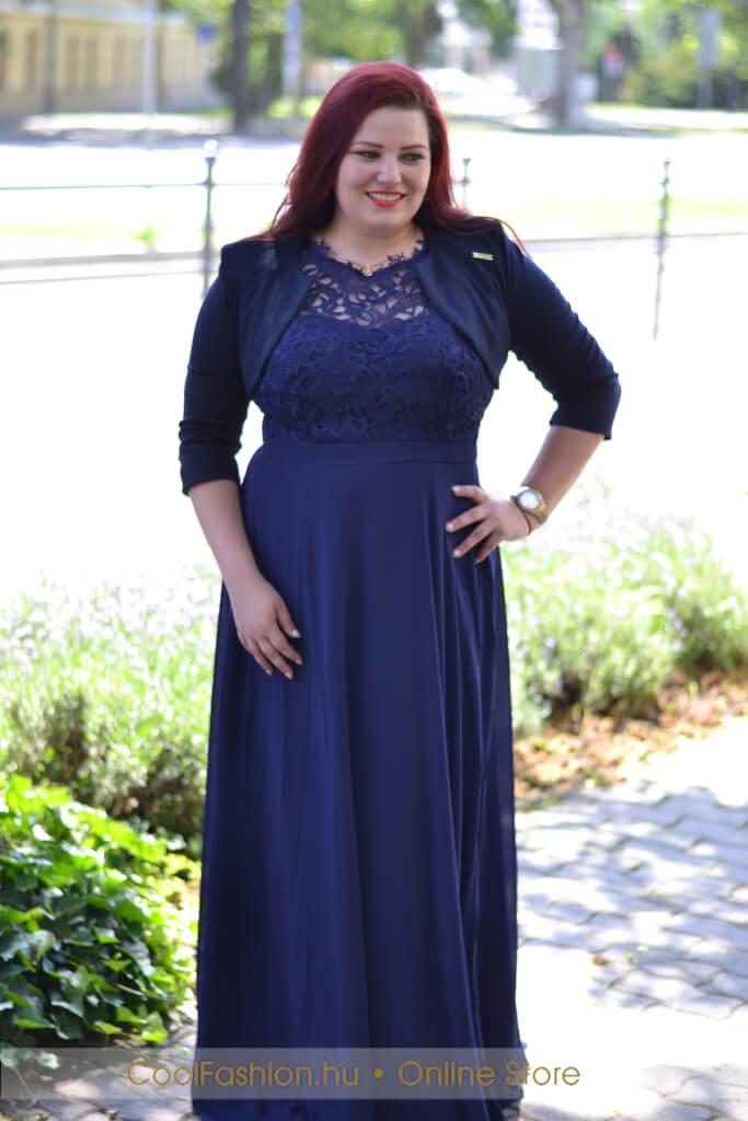 Nagyméretű felül csipkés muszlin maxi ruha - Cool Fashion 413b2a5a48