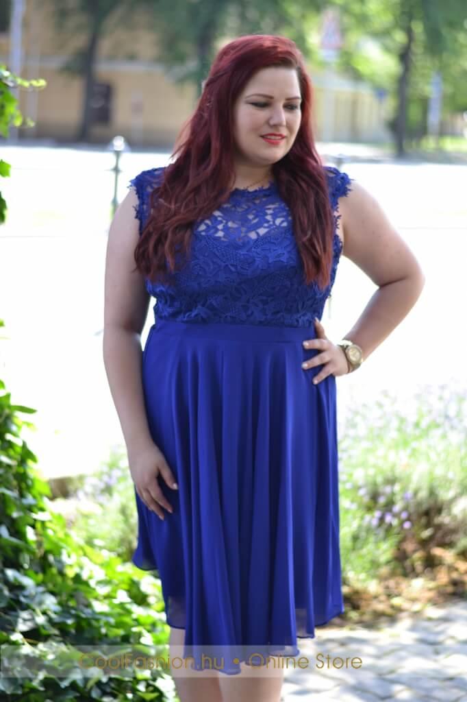 37bfa299ae Nagyméretű felül csipkés muszlin ruha - Cool Fashion