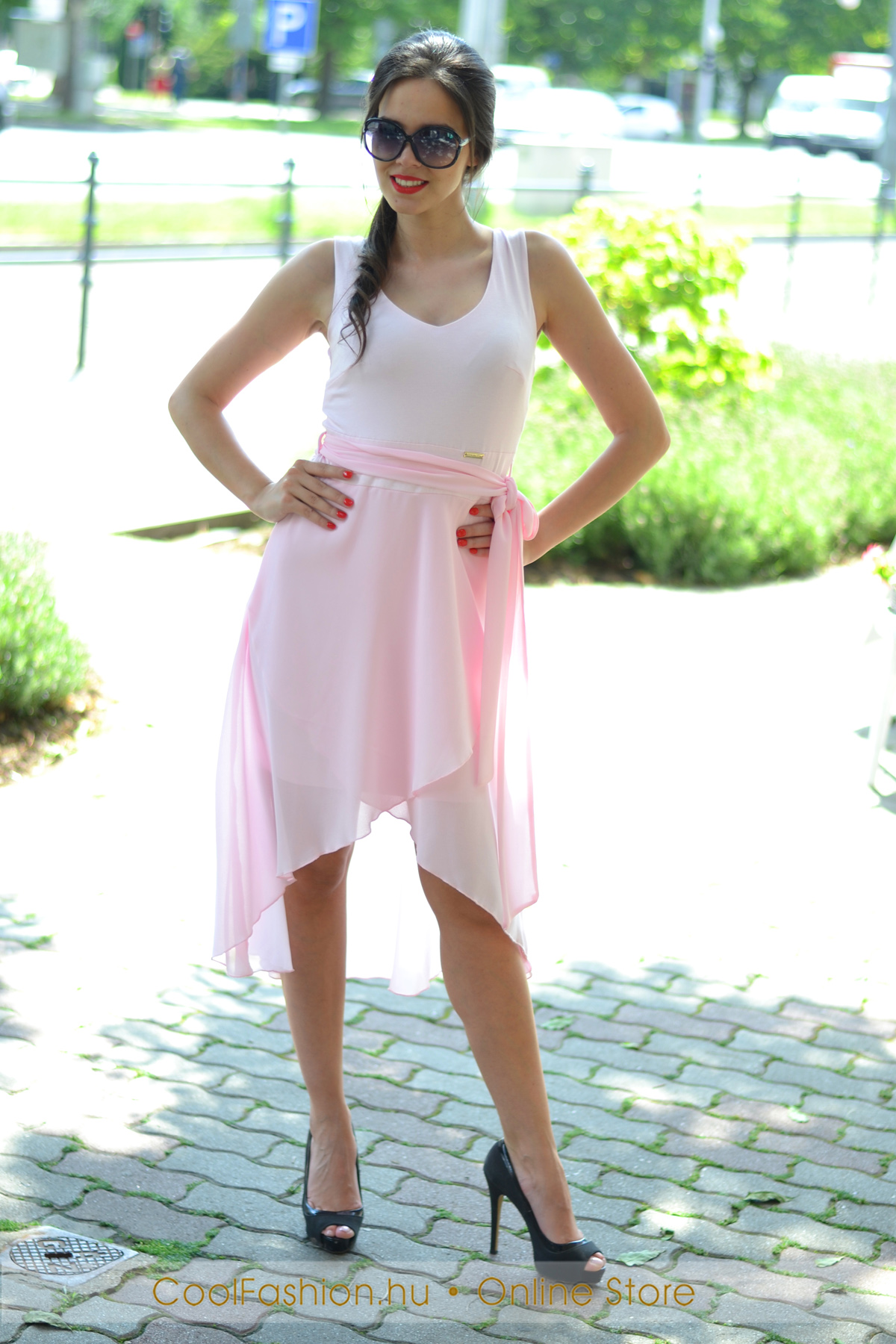 524b2738d6 Molli elől rövidebb maxi ruha - Cool Fashion
