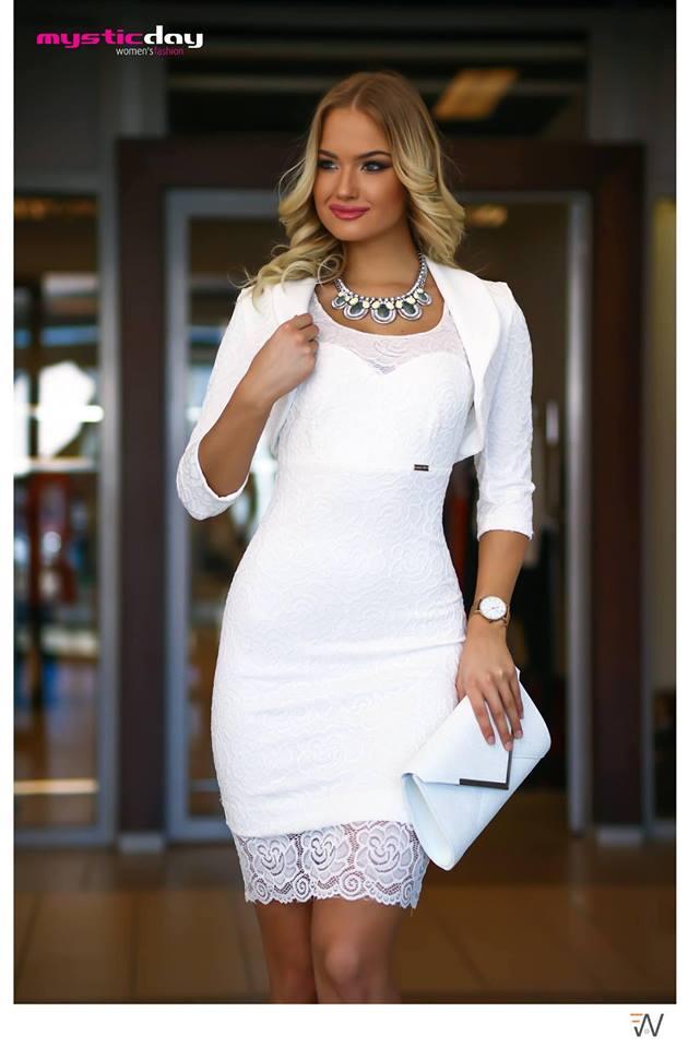 Csipkés fehér boleró - Cool Fashion f8ae6832d6