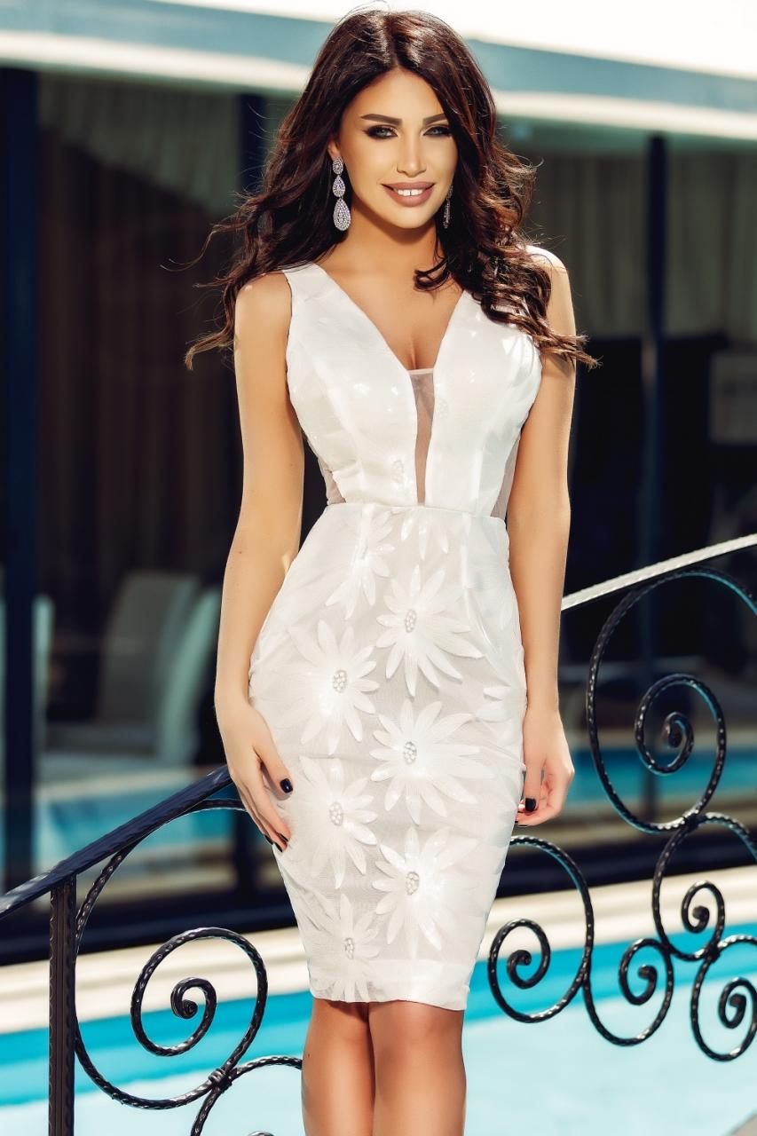 Fehér koktél ruha - Cool Fashion daf905fd3b