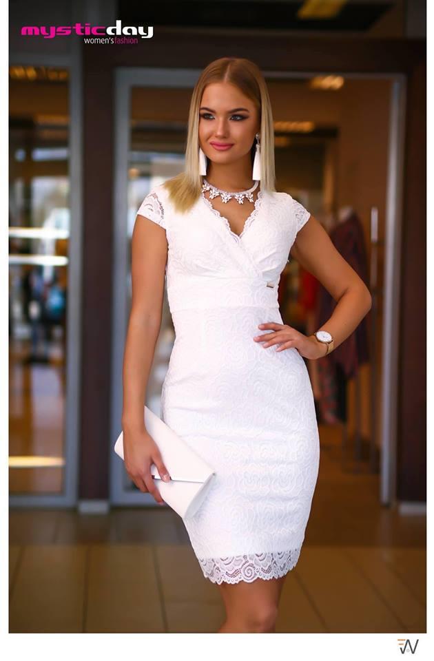 7ea80736e1 Trixi fehér csipkés ruha - Cool Fashion