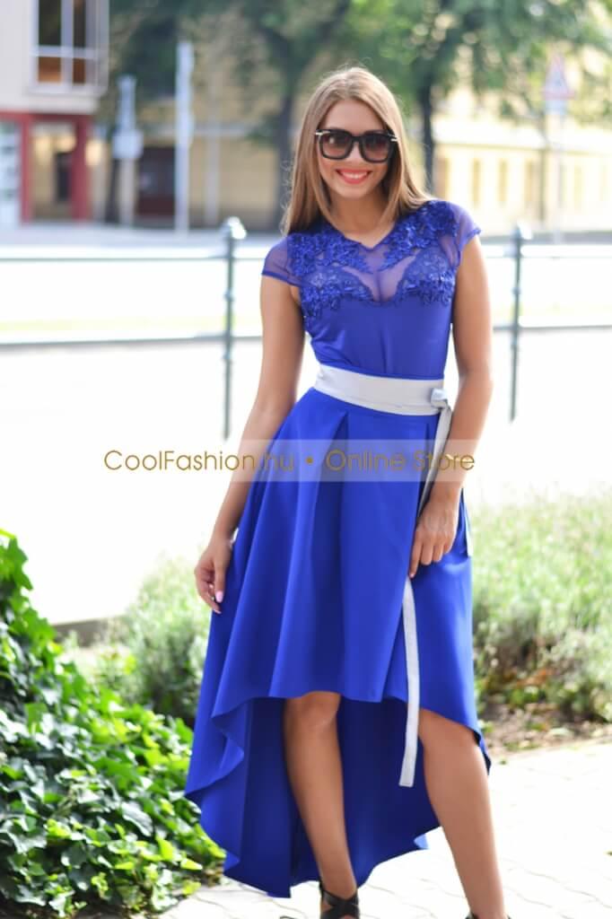 Elől rövidebb vászon maxi szoknya - Cool Fashion d06a0e8608