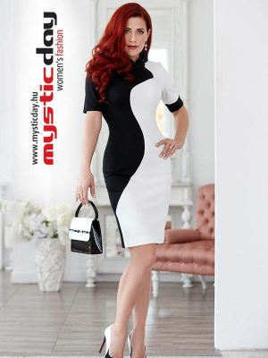 fekete fehér hullám ruha mystic day