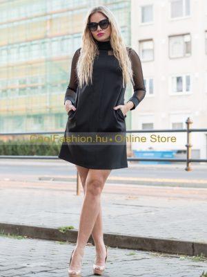 fekete A vonalú ruha mystic day