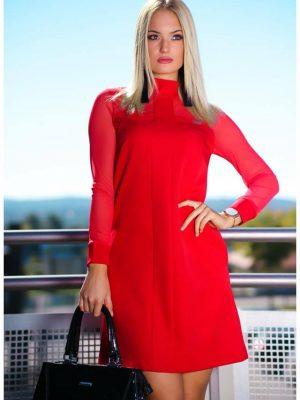 piros A vonalú ruha mystic day