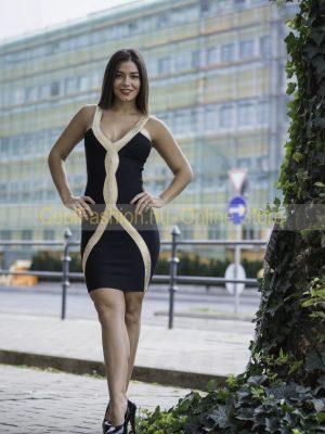 arany fekete bandage ruha meryll