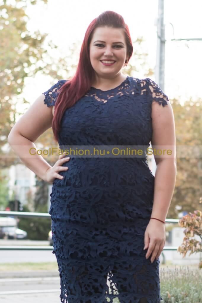 Horgolt rövid ujjas csipke ruha - Cool Fashion 378d8beca7