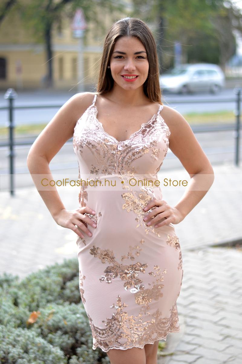 ace8fbd5b1 Pántos flitteres koktél ruha - Cool Fashion