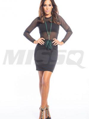 fekete necc ruha missq