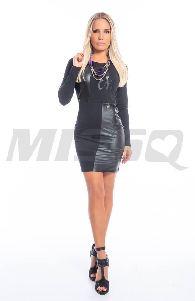 Helen bőrbetétes ruha - Cool Fashion 3827aad4b1