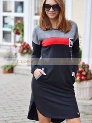 kockás fekete pamut ruha tunika debrecen