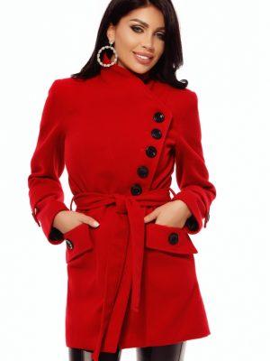 piros szövet gyapjú kabát atmosphere