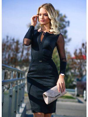 cipzáras lurex necc ruha fekete mystic day