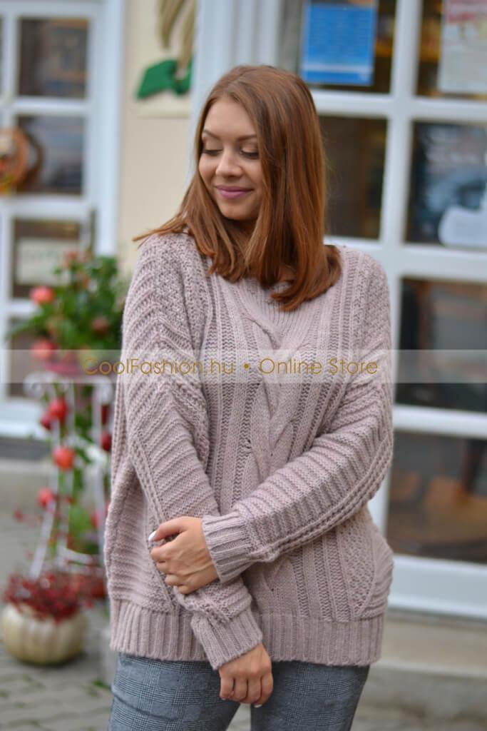 a737d2ecf3 Hurkolt mintás pulóver - Cool Fashion