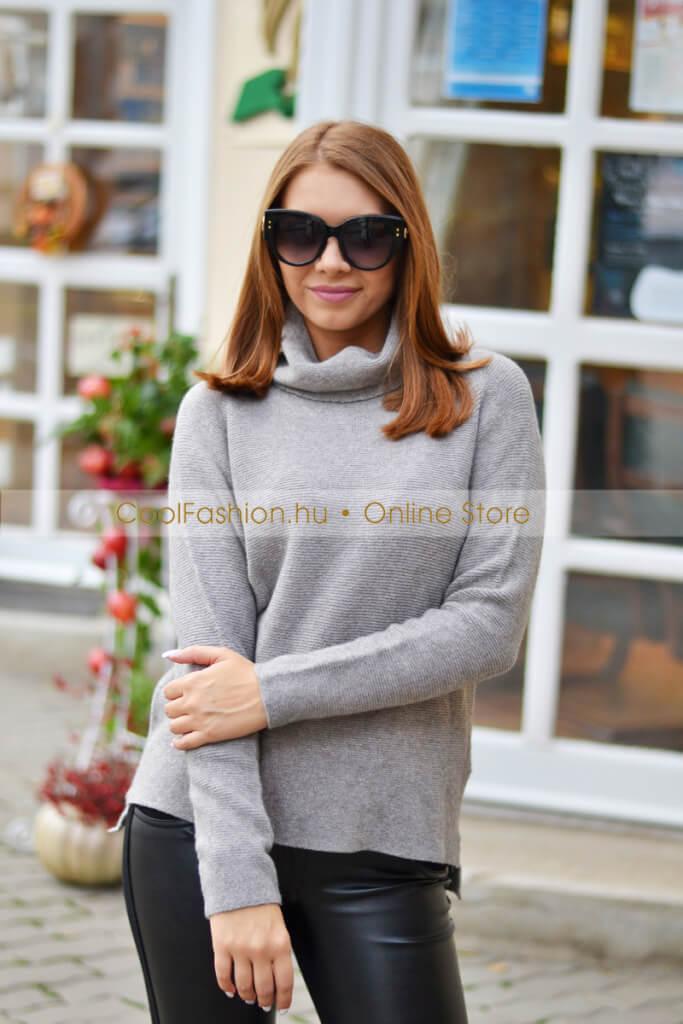 642190aa41 Garbós kötött pulóver - Cool Fashion