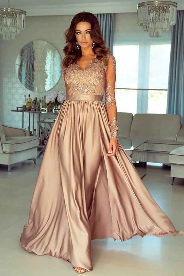 305fb59321 Selymes flitteres h.ujjú maxi ruha - Cool Fashion