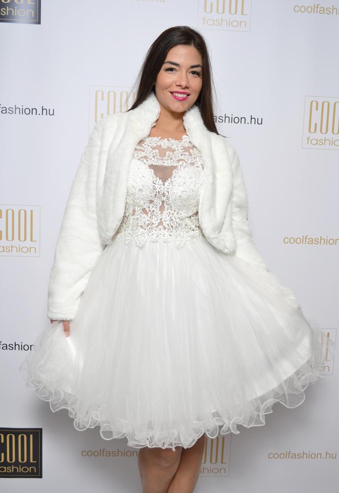 a979d6f702 Fehér görög csipkés tüll ruha - Cool Fashion