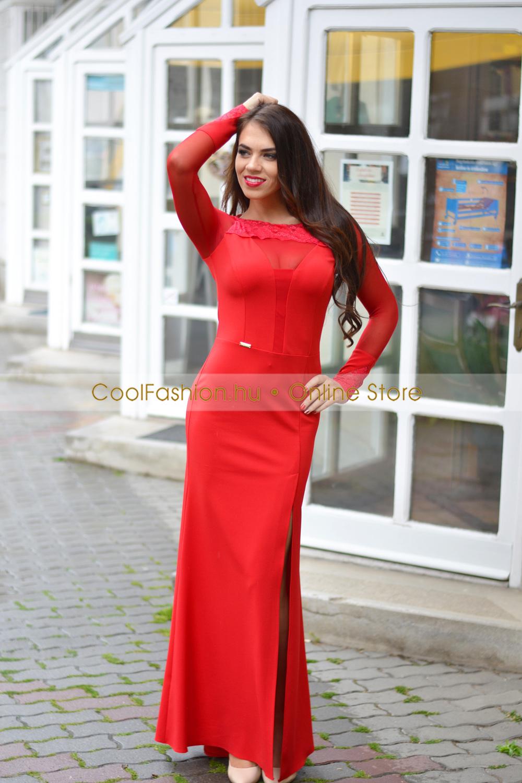 71dd903624 Romina csipkés/necc sellő maxi ruha - Cool Fashion