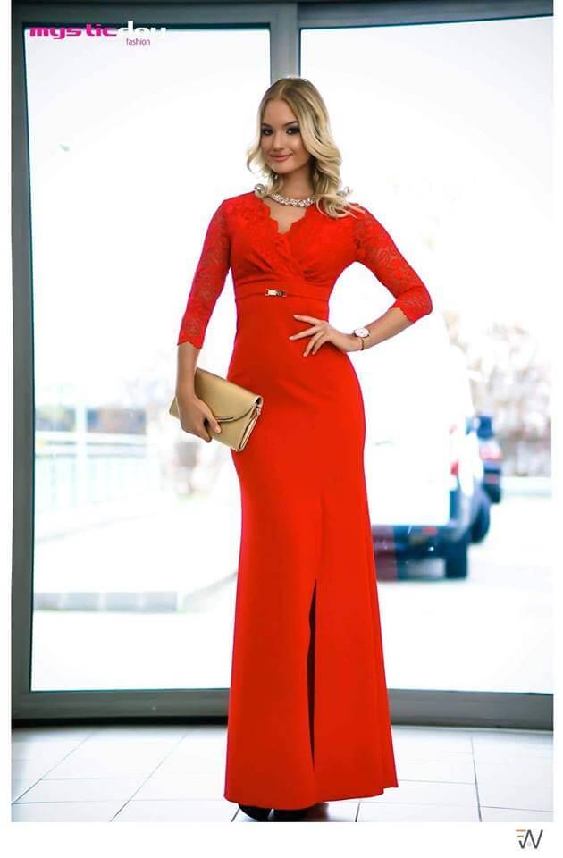 f9ff316bb2 Trixi csipkés piros sellő maxi ruha - Cool Fashion