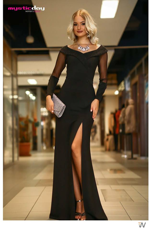 Virginina fekete lurex sellő maxi ruha - Cool Fashion 1182873662