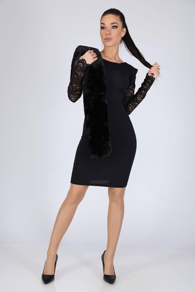 Milda fodros csipkés ujjú ruha - Cool Fashion 57c8082589