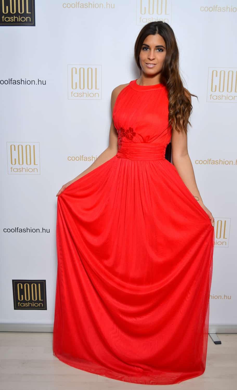 b4a458246d Piros necc-tüll maxi ruha - Cool Fashion