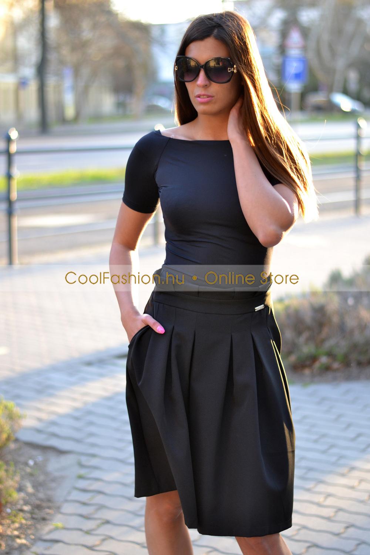 c014094662 Ramira zsebes vászon loknis szoknya - Cool Fashion