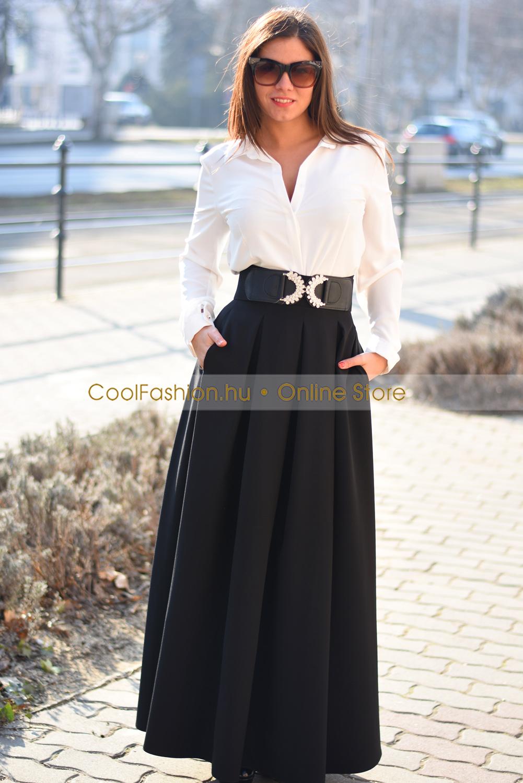 Zsebes maxi szoknya - Cool Fashion a5e537ae9c