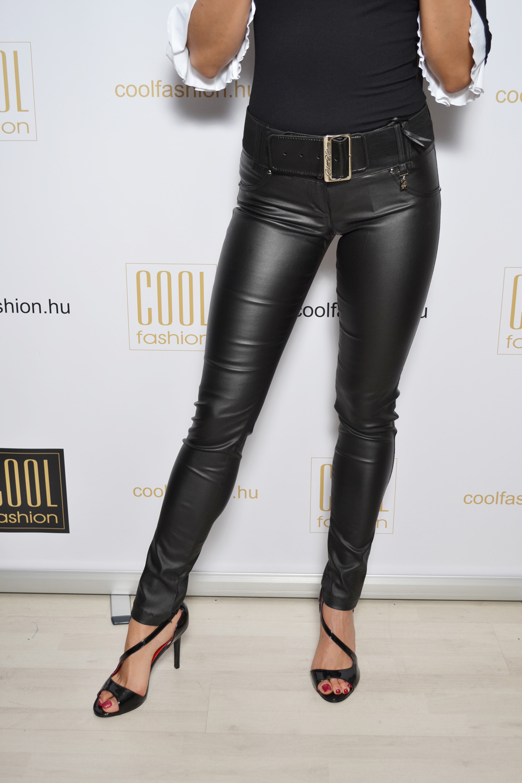 1149764116 Kent fekete műbőr nadrág - Cool Fashion
