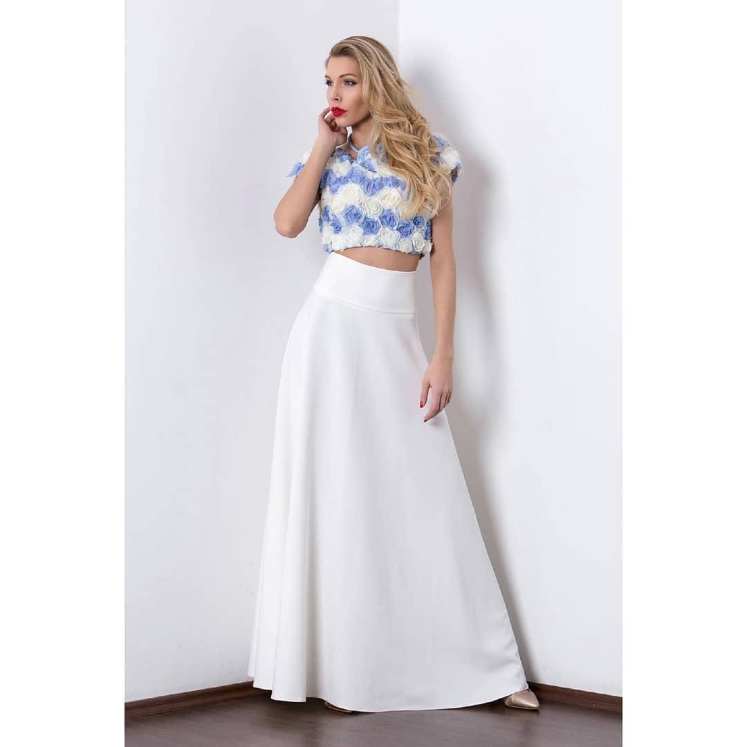 Vászon krém maxi szoknya - Cool Fashion 73a5ddb129