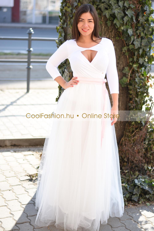 3d85201348 Maxi fehér tüll szoknya - Cool Fashion
