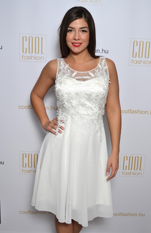 bcb77c09cb Mása csipkés fehér muszlin ruha - Cool Fashion