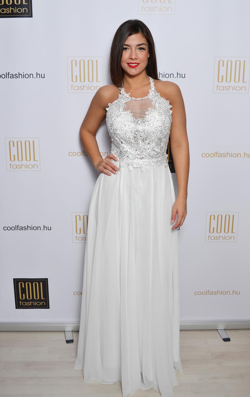 Köves fehér csipkés-necc görög maxi ruha - Cool Fashion dec71c13bf