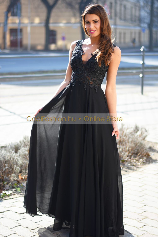 Csipkés gyöngyös push-up2 muszlin maxi ruha - Cool Fashion e245fdf801