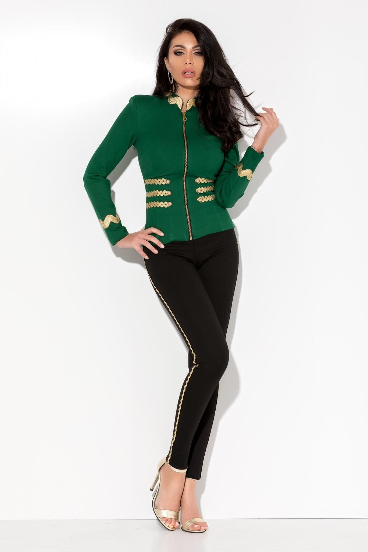a56662d006 Fekete oldalt arany horgolt nadrág - Cool Fashion