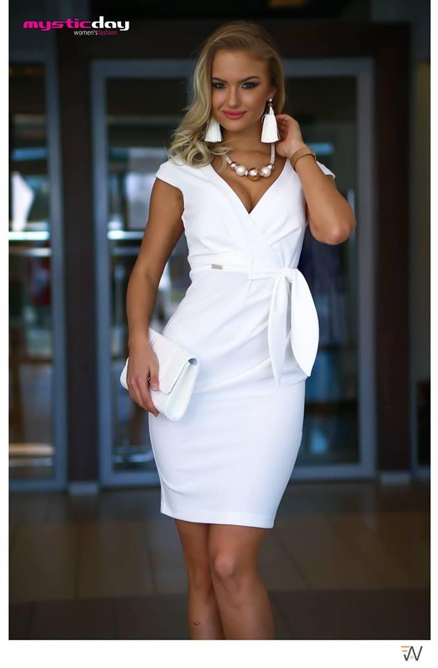 09492b508c Betty fehér ruha - Cool Fashion