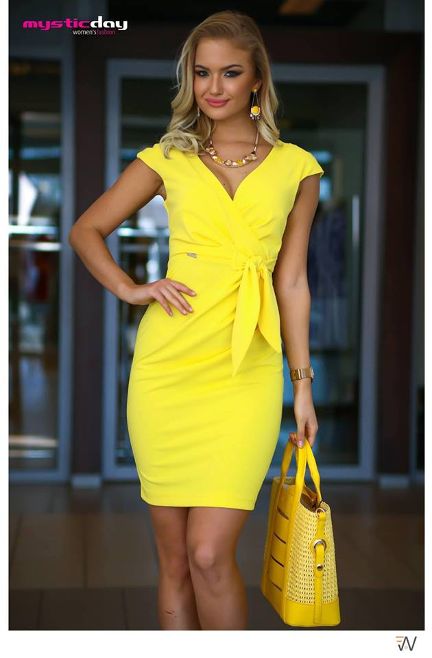 cc68b6ffbf Betty citromsárga ruha - Cool Fashion